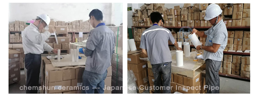 Japanese Customer inspect pipe